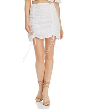 For Love & Lemons - Montauk Eyelet Mini Skirt