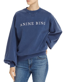 Anine Bing - Esme Embroidered-Logo Sweatshirt