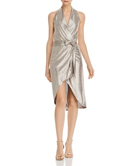Ramy Brook - Mara Metallic Halter Dress