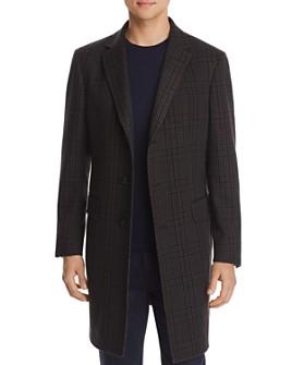 Z Zegna - Wool Plaid Slim Fit Topcoat