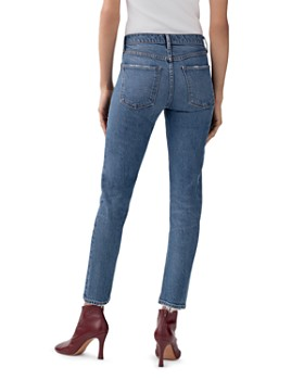 AGOLDE - Toni Mid-Rise Ankle Skinny Jeans in Obscure