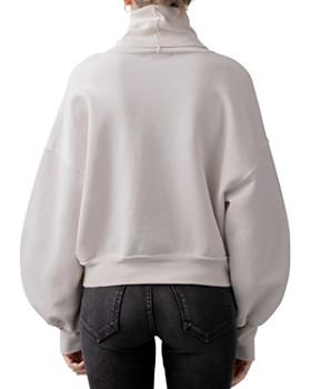AGOLDE - Balloon-Sleeve Turtleneck Sweatshirt
