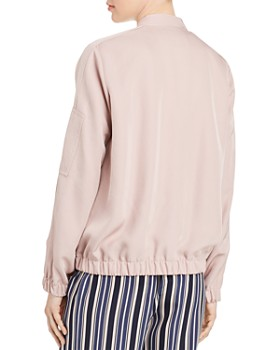 Lafayette 148 New York - Ziggy Sateen Bomber Jacket