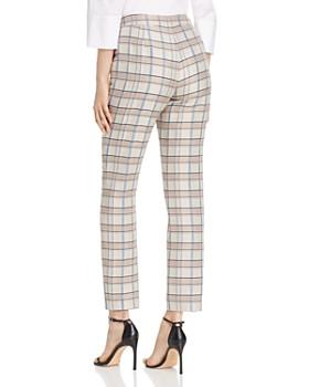 Lafayette 148 New York - Manhattan Plaid Slim Pants