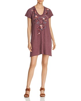 Johnny Was - Kira Embroidered Jersey Tunic Dress