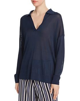 Lafayette 148 New York - Lightweight Polo Sweater