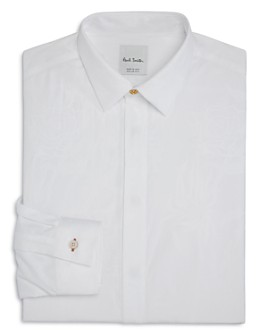 Paul Smith - Floral-Jacquard Slim Fit Tuxedo Shirt