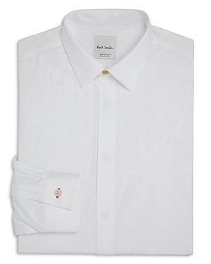 Paul Smith Floral-Jacquard Slim Fit Tuxedo Shirt