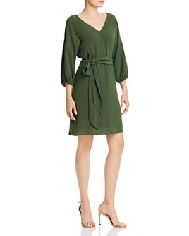 Adrianna Papell - Belted Crepe Shift Dress