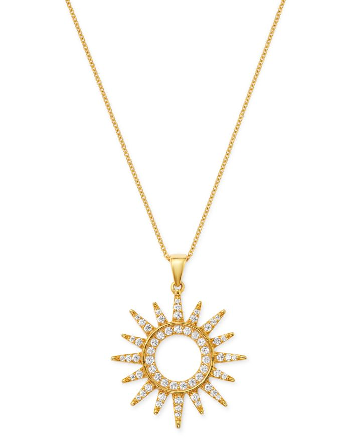 Bloomingdale's Diamond Sun Pendant Necklace in 14K Yellow Gold, 0.75 ct. t.w. - 100% Exclusive  | Bloomingdale's