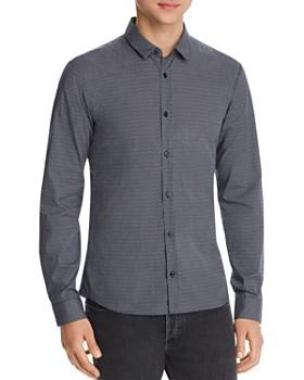 HUGO - Ero Geometric-Print Slim Fit Shirt