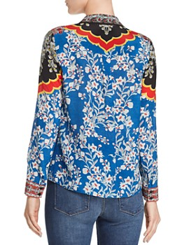 Alice and Olivia - Willa Floral-Print Silk Blouse
