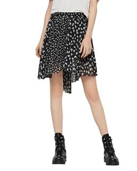 ALLSAINTS - Lea Scatter Pleated Floral Skirt