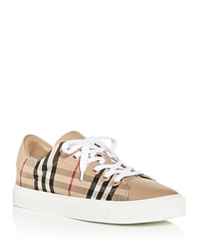 Burberry - Women's Albridge Vintage Check Low-Top Sneakers