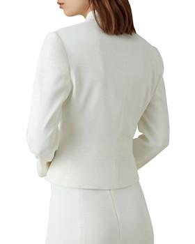 KAREN MILLEN - Stand-Collar Fitted Blazer