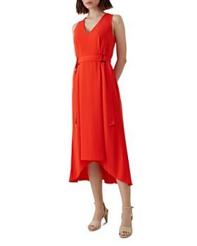 KAREN MILLEN - Belt Detail High/Low Midi Dress