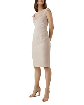 KAREN MILLEN - Lace-Trim Sheath Dress