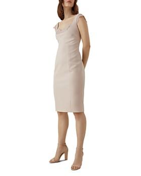 KAREN MILLEN - Lace-Trim Sheath Dress