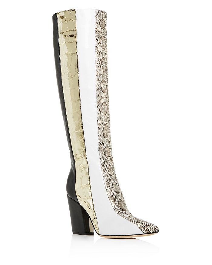Sergio Rossi - Women's 090 Patchwork High-Heel Boots