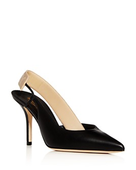 Burberry - Women's Maria Slingback Pointed-Toe Pumps