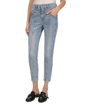 c32c783b2 The Kooples - High-Rise Cropped Slim-Leg Jeans in Light Blue ...