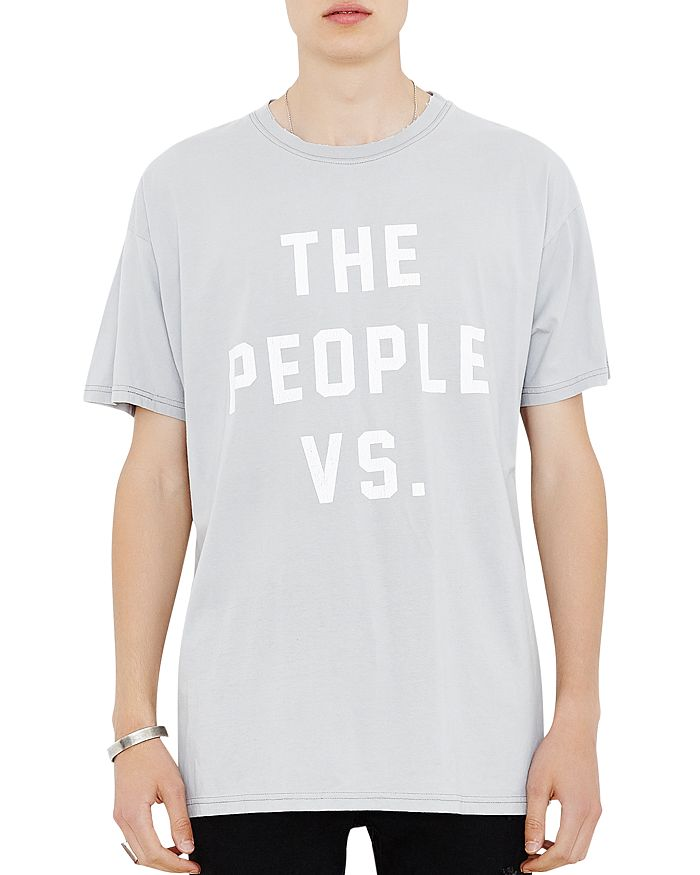 The People Vs. Liberty Vintage Graphic Tee In Gray