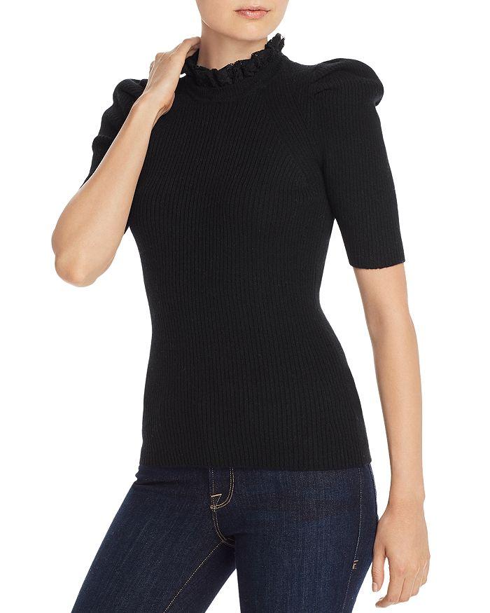AQUA - Lace-Trim Puff-Sleeve Cashmere Sweater - 100% Exclusive