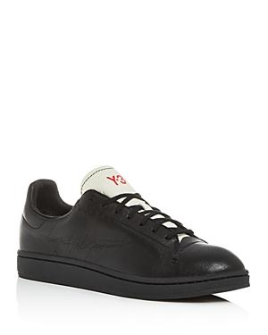 Y-3 Men's Yohji Court Leather Low-Top Sneakers