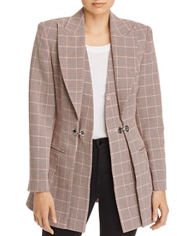 Acler - Fairfax Layered-Look Plaid Blazer
