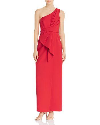 Eliza J - One-Shoulder Draped Gown