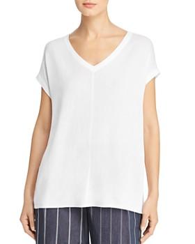 Donna Karan - Short-Sleeve Sweater