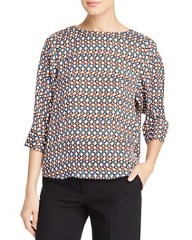 T Tahari - Three-Quarter Sleeve Printed Blouse