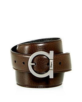 Salvatore Ferragamo - Men's Gancini Reversible Leather Belt