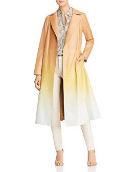 Lafayette 148 New York - Avrielle Ombré Leather Trench Coat