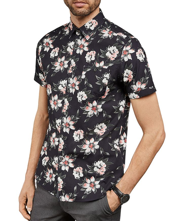Ted Baker - Philip Floral Print Slim Fit Shirt