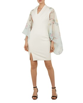 Ted Baker - Suzana Sorbet Floral Metallic Cape Scarf