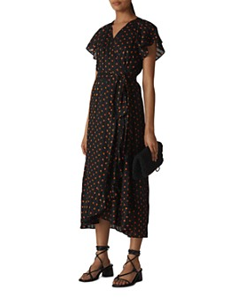 Whistles - Scattered Leaf Wrap Dress