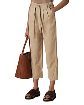 Whistles - Pleated Wide-Leg Cropped Pants