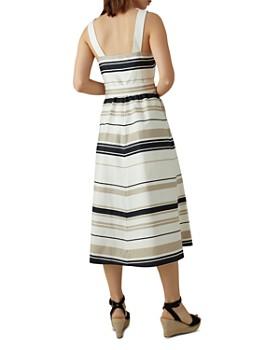 KAREN MILLEN - Striped Button-Front Midi Dress