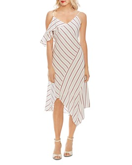 VINCE CAMUTO - Ruffled Cold-Shoulder Dress