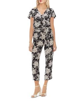 VINCE CAMUTO - Botanica Floral-Print Jumpsuit