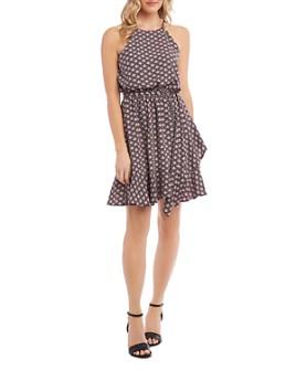 Karen Kane - Printed Faux-Wrap Dress