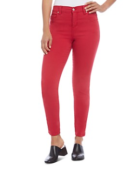 Karen Kane - Zuma High-Rise Cropped Skinny Jeans in Red