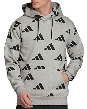 adidas Originals - Arc Logo-Print Hooded Sweatshirt