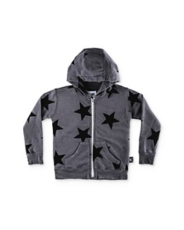 NUNUNU - Unisex Star Zip-Up Hoodie - Little Kid