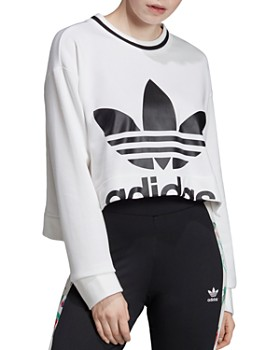Adidas - Trefoil High/Low Cropped Sweatshirt