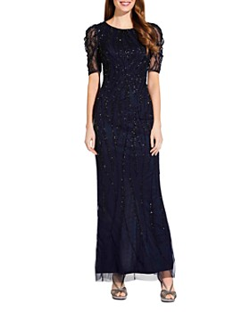 9afe06429 Adrianna Papell - Beaded Floor-Length Gown ...
