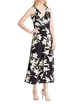 Ralph Lauren - Floral Surplice Midi Dress