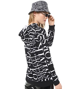 MICHAEL Michael Kors - Newsprint Logo-Letter Cotton Hoodie