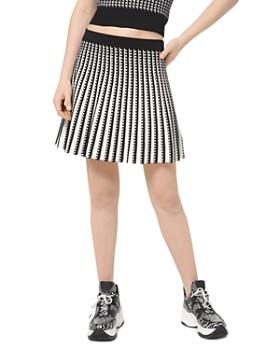 MICHAEL Michael Kors - Pleated Geo-Pattern A-Line Skirt